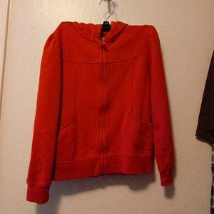Gymboree red zipper hoodie girls size large